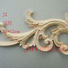 J2-25x12,5 см деревянная резная угловая накладка аппликация Неокрашенная рамка дверь наклейка рабочий плотник украшение