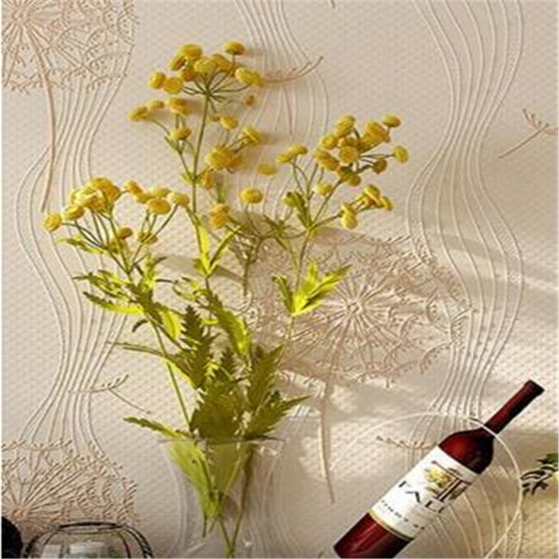 Beibehang minimalist home furnishing 3d wallpaper living room background fresh dandelion wallpaper for walls 3 d papel de parede