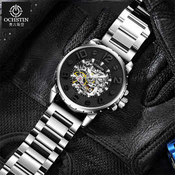2019 NEW Men Watches Automatic Mechanical Watch Male Clock Full Steel Fashion Skeleton Clock Top Brand Waterproof Relogio - DISCOUNT ITEM  42 OFF Watches