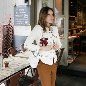 Image 3 - Женская куртка в винтажном стиле, элегантная однотонная куртка для отдыха, весна 2020