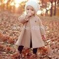 Details about Fashion Cute Kids Children Girls Beige Winter Long A-shaped Coat Jacket Outwear
