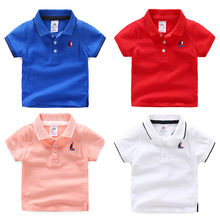 2018 Summer 2 10TKids Childrens Birthday Gift Clothing Cotton Short Sleeve Solid Color White Pink Red Blue T Shirt Boy 10 Years