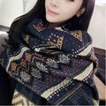 Fashion Top Blanket Scarf Female Cashmere Pashmina & Wool Shawl 2017 Ethnic Women Winter Warm Scarves Cape Free Shipping lxy389