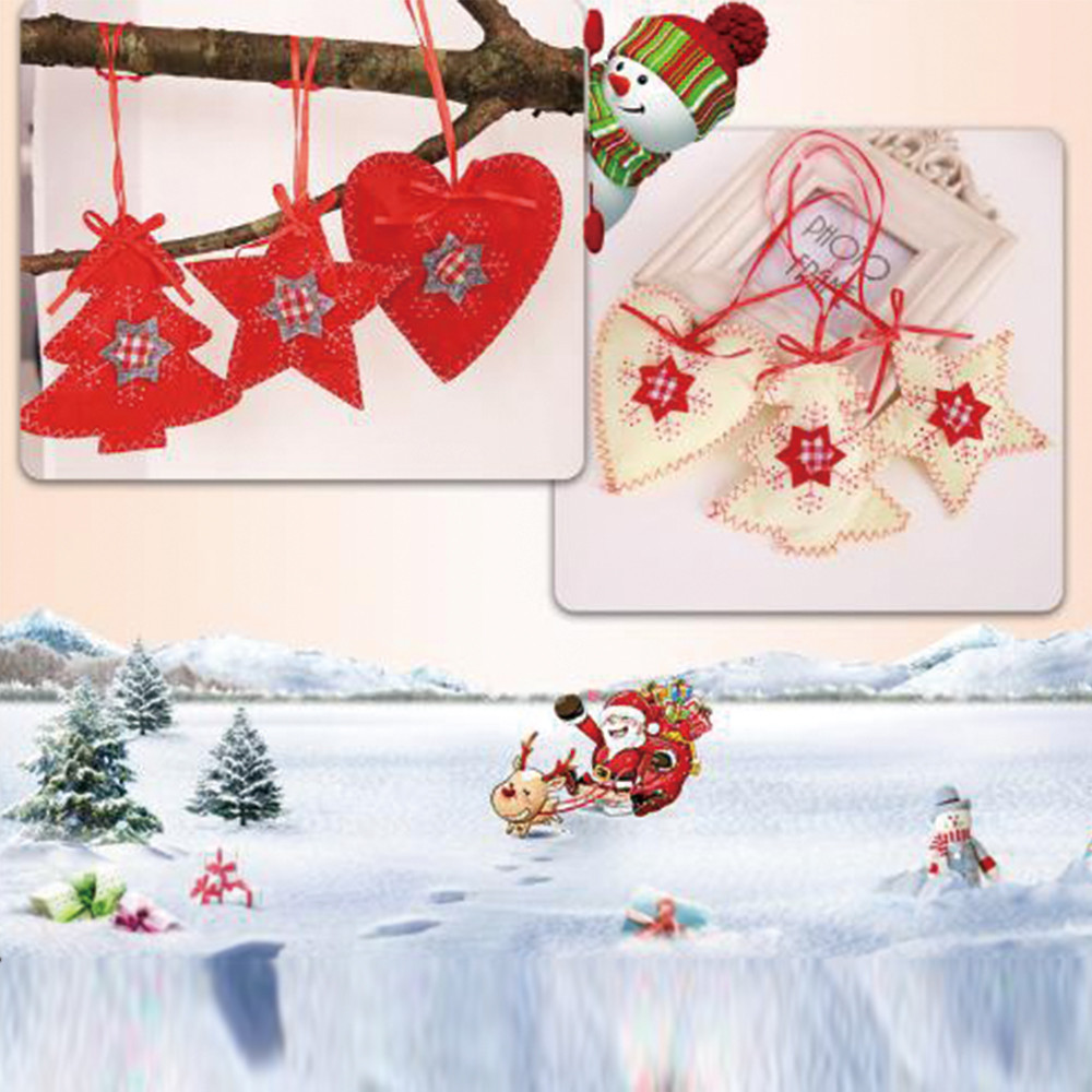 Christmas Christmas Tree Decoration Non woven Sewing ...
