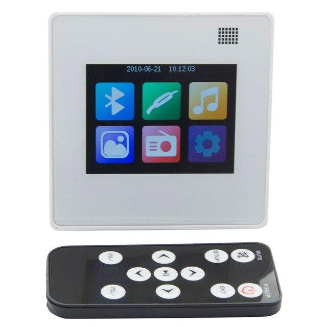 MP5 Player système de musique à domicile, système de haut parleurs de plafond, amplificateur numérique Bluetooth, amplificateur mural intégré avec écran tactile TFT LCD