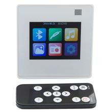 Mp5 sistema de música doméstico, sistema de alto falante de teto, amplificador digital bluetooth, amplificador de parede com tft lcd touch screen