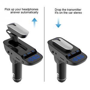 Image 5 - ER9 自動オン/オフ車ハンズフリー MP3 充電機能黒アダプタワイヤレス送信機の bluetooth 4.2 ヘッドセット #2