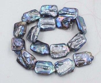 Пресноводный жемчуг черный продолговатый реброн Кеши 25-30 мм свободные бусины натуральный Бисер для изготовления ювелирных изделий ожерелье 14 дюймов FPPJ оптовая продажа
