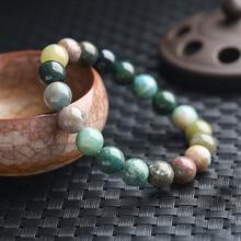 STENYA 6-8-10-12мм растягивающийся браслет эластичный натуральный камень cteated бусина расширяемая Винтажные Ювелирные изделия Браслеты Бусы из Индии