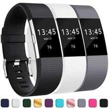 3PCS ซิลิโคนอ่อนสำหรับ Fitbit Charge 2 สมาร์ทนาฬิกาสร้อยข้อมือสำหรับ Fitbit Charge 2 สายคล้องคอสำหรับ Fitbit