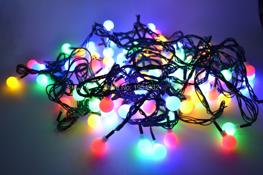 220v frosted pp ball light string christmas - Multifunction Christmas Lights