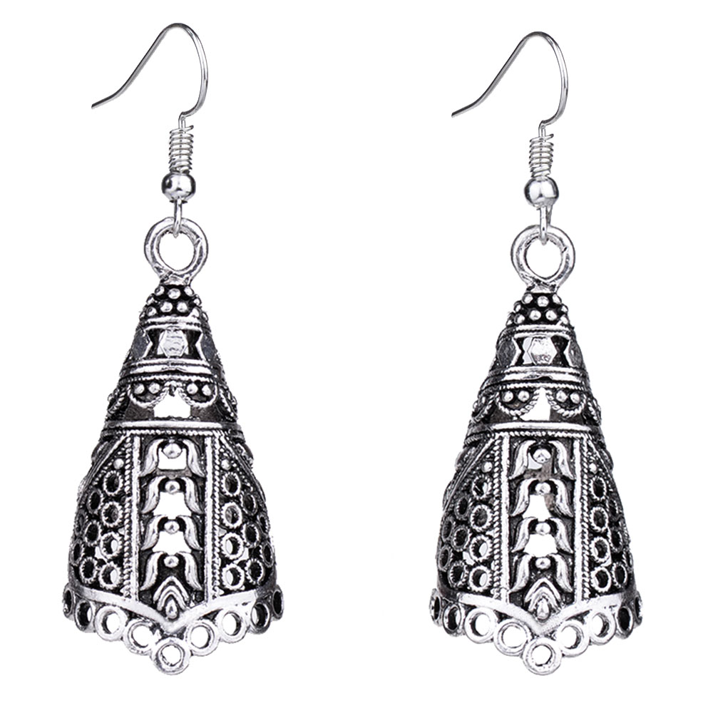 Open-Minded Mythic Age Eq180 Ethnic Antique Tibetan Silver Color Hollow Tribal Bell Vintage Drop Earrings For Women Girls New Jewelry High Safety Jewelry & Accessories