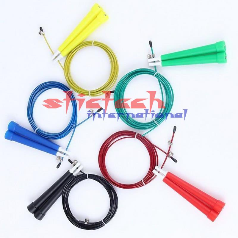 dhl or fedex 200ps Lot 3M High Speed Steel Wire Bearing Skipping Rope Crossfit Adjustable Metal