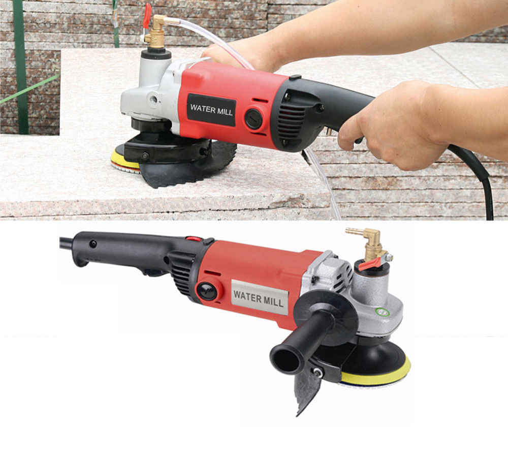 "Variable Speed Wet Polisher 4/"" 100mm Polishing 65+1 Pad Concrete Stone Granite"