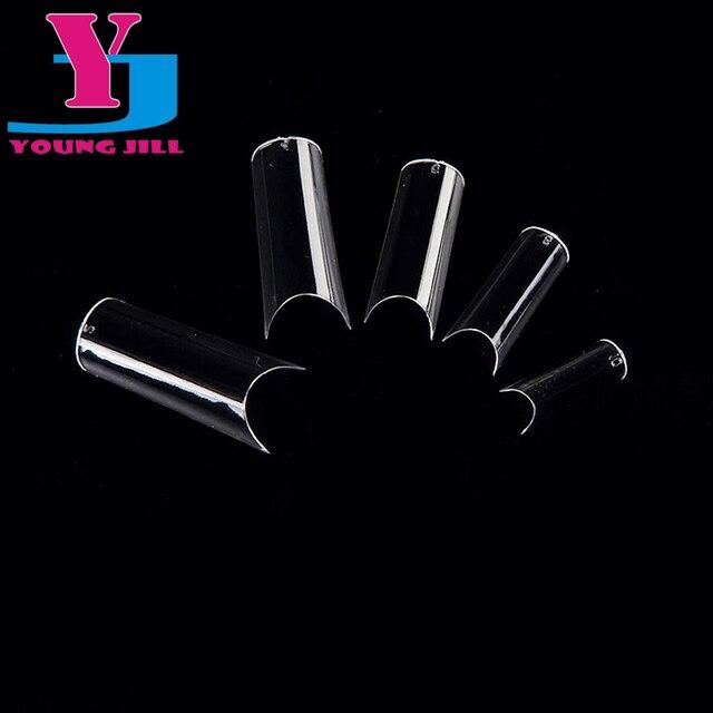 Накладные ногти советы 500 шт. + 50 шт. полное покрытие искусственные ногти полностью изогнутые типсы прозрачный DIY маникюрные комплект