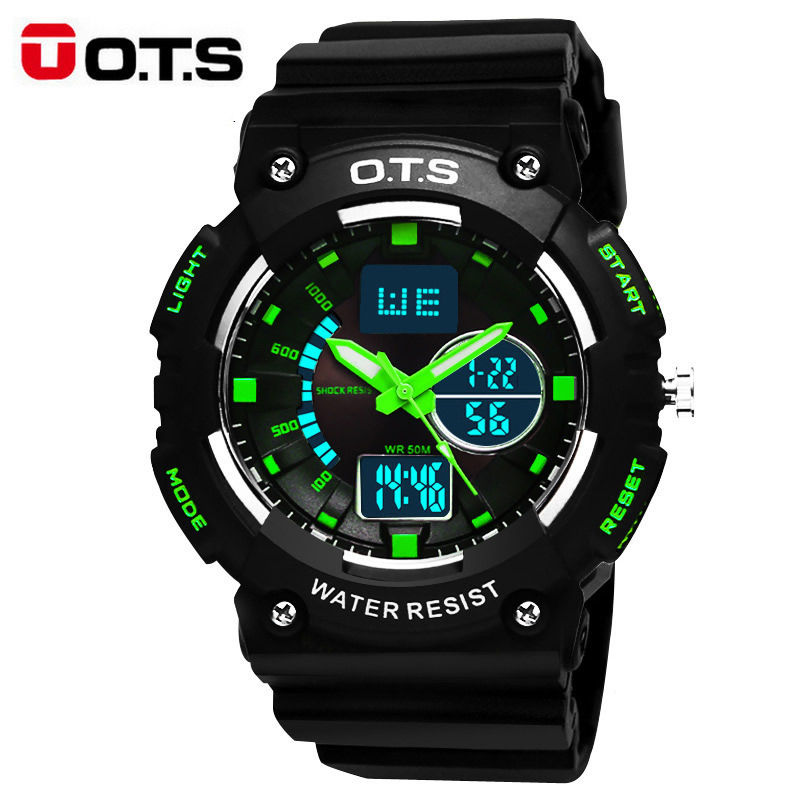 Fashion Super Cool Military Men's Quartz LED Digital Watch Men Sports Watches OTS Luxury Brand 50M Waterproof Relogio Masculino
