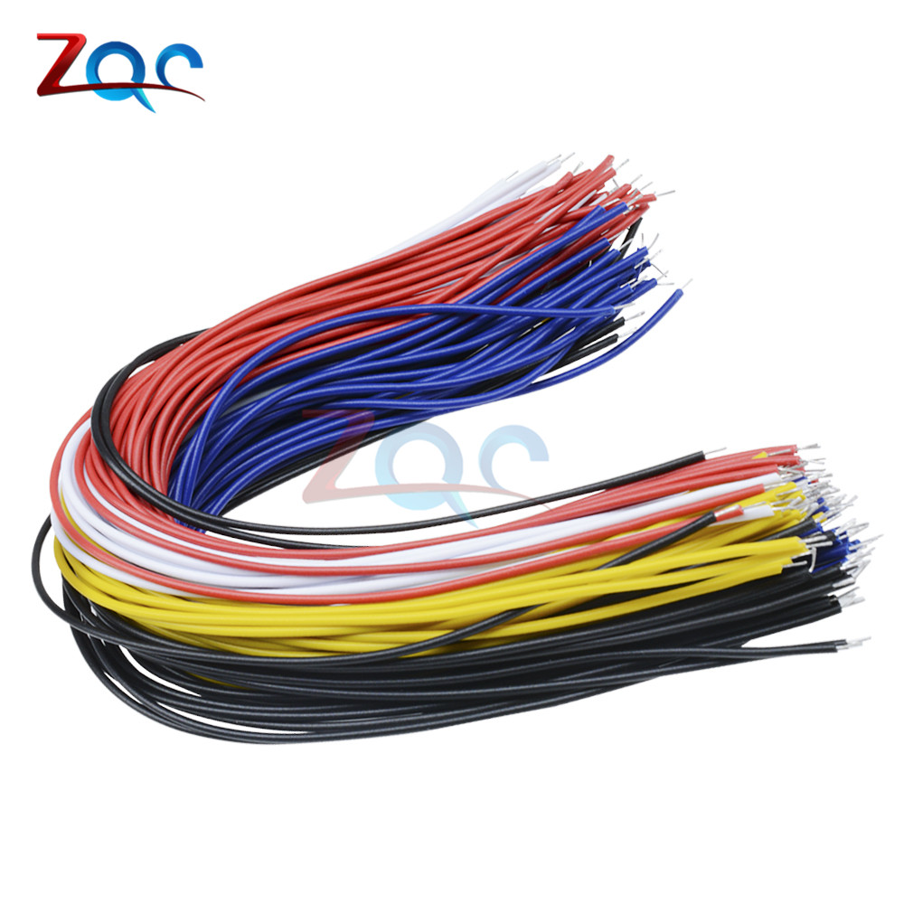 100PCS/LOT Tin-Plated Breadboard PCB Solder Cable 26AWG 20cm Fly Jumper Wire Cable Tin Conductor Wires 1007-26AWG Connector Wire