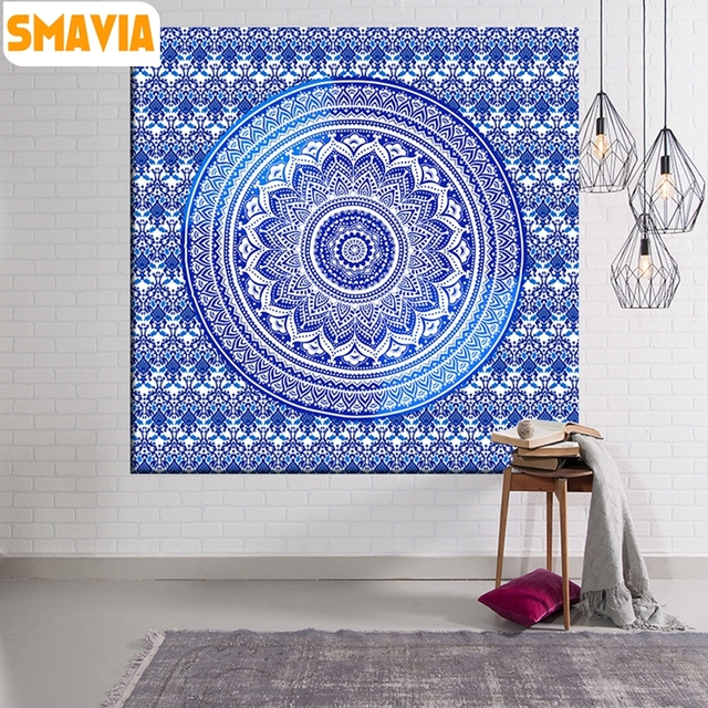 Smavia Home Decor Indian Style Tapestry Totem Wall Carpet Printed Decorative Sea Beach Blankets Roof