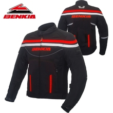 BENKIA MOTORRAD JACKE Chaqueta Moto Frühjahr Sommer Mesh Atmungs Motocross-jacke Reflektierende Moto Jacke Schutz