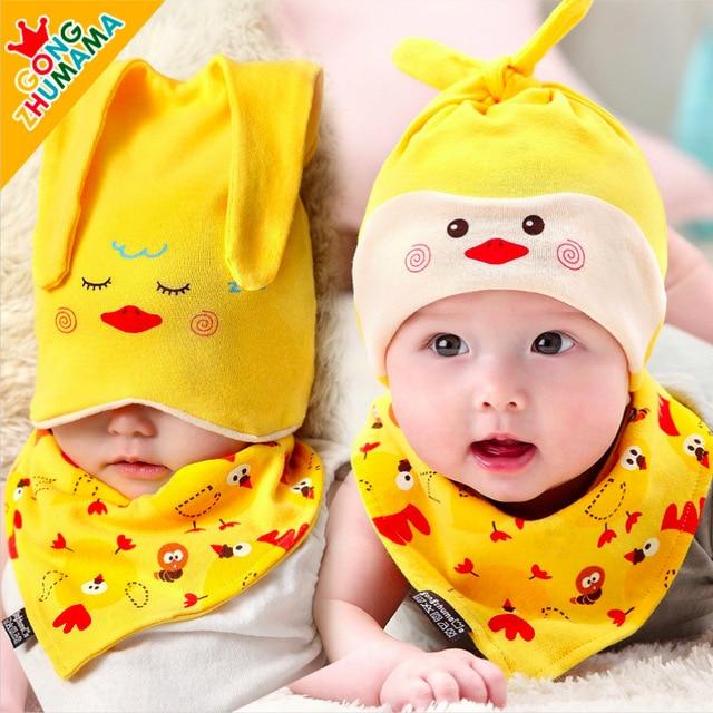 summer style newborn baby boy girl hat cap+towel 2pcs cartoon Panda Piggy  beanie unisex baby summer hats caps baby girl months 2b23dbd76d3