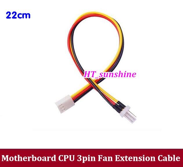 ộ_ộ ༽200 unids/envío libre placa base CPU 3pin 3 P ventilador cable ...