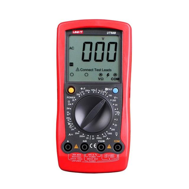 UNI-T UT58A UT58B UT58C UT58D UT58E Digital Multimeter Ammeter Volt Meter Capacitance LCD AVO Meter temperature test Multitester avo kull haigla