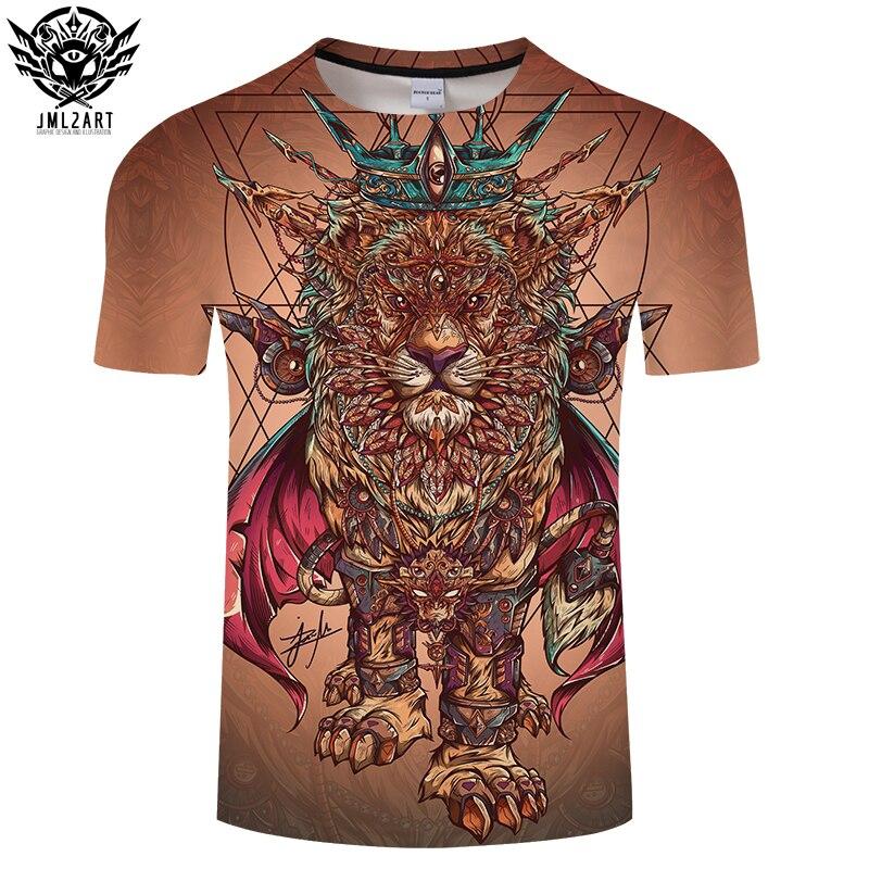 Lion Pngposter By jml2Art 3D Print T shirt Men Women Summer Anime ShortSleeve Top&Tee Cool Tshirt Boy Streatwear Coffee DropShip