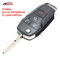 KEYECU Replacement Smart Remote Flip Key Keyless Entry Fob 4Button 315MHz For Ford Fusion 2013 2015 164 R7986 FCC ID: N5F A08TAA