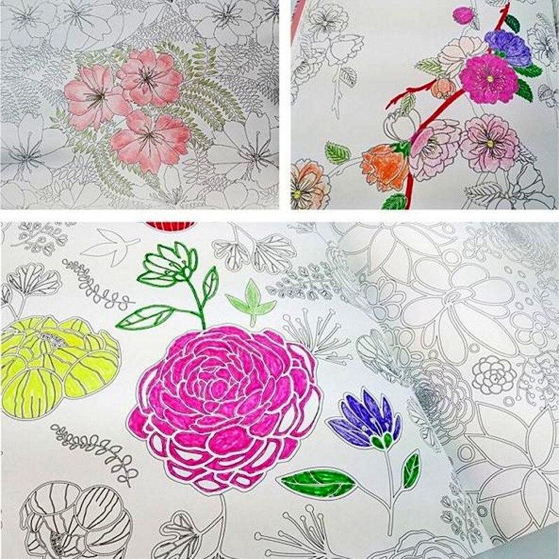 Libros para colorear adultos corean flor arte libro aliviar el ...