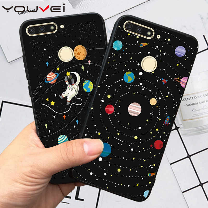 YOUVEI Case For Coque Huawei Honor 7A Pro Case Soft TPU Cover For Huawei Y6 Prime 2018 Case For Huawei Honor 7C 5.7'' Phone Case