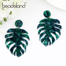 Beadsland Acetic Acrylic Drop Earrings Distinctive Feather Design Fashion Hyperbole Woman Girl Party Festival Hot Sell Gift40026 feather design drop earrings 2pairs