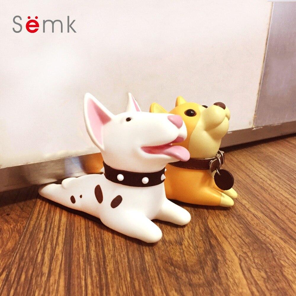 Semk Cute Cartoon Dog Door Stopper Holder Bull Terrier PVC safety for font b baby b
