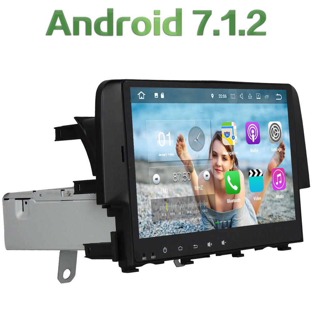 1 din Android 7 1 2 Quad core 10 1 2GB RAM font b Multimedia b