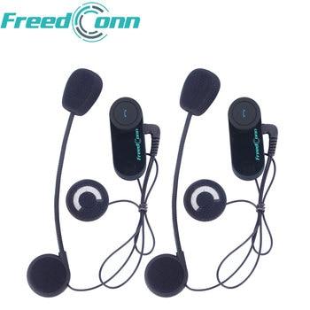 Freedconn 2PCS TCOM-OS 100M Intercom Distance Motorcycle Helmet Intercom Wireless Bluetooth Intercom Interphone Moto Headset