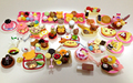 120Pcs/lot Re-ment Mini Food Tableware Miniatures Lovely Dollhouse Meal Drink Megahouse BJD Doll House Decoration Play Food Toys