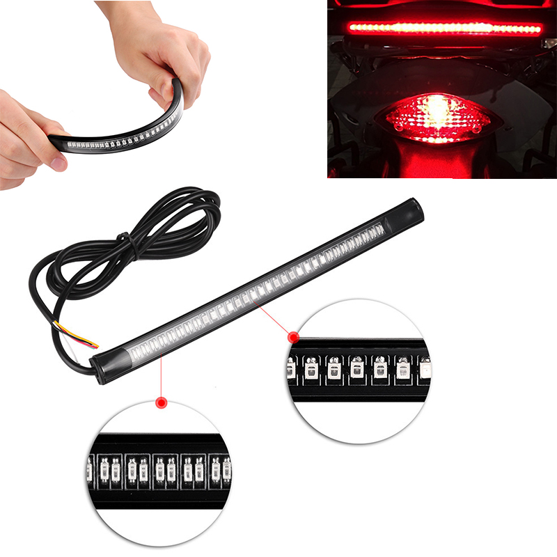 Motorcycle Flexible Strip Led Brake Stop Turn Signal Direction Indicator Light For  Sportster XL 883 1200 Touring Dyna