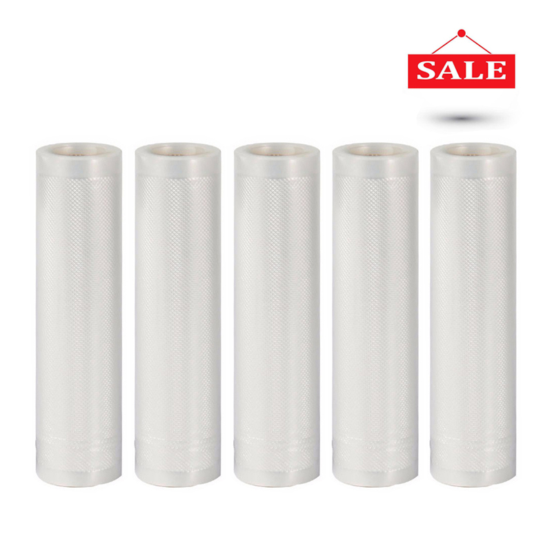 5 rolls/lot on sale vacuum sealer Storage bag for vacuum sealing machine for pack food saver Packaging Rolls packer seal bags