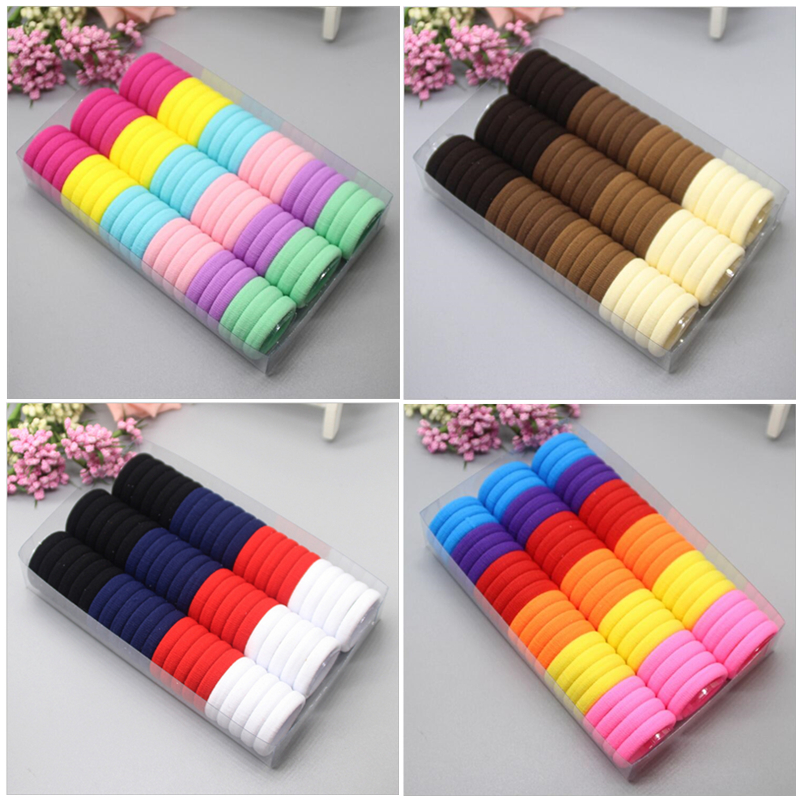 3cm 66pcs/pack Elastic Hair Bands Rope Scrunchie Hair Bands For Girls Haar Hair Accessories Kids Children Headwear Kk1717