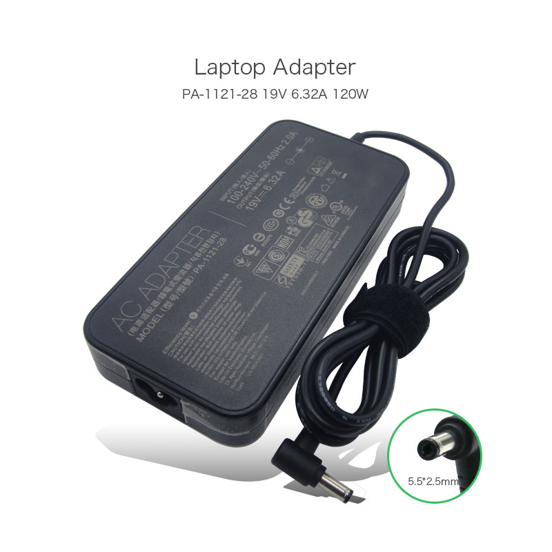 19V 6.32A 120W 5.5*2.5mm A11-120P1A ADP-120RH B PA-1121-28 AC Adapter Charger for ASUS G74SX N751JK N751JX GL502 GL552 asus laptop adapter 19v 6 32a 120w 5 5 2 5 pa 1121 28 ac power charger for asus n750 n500 g50 n53s n55 laptop