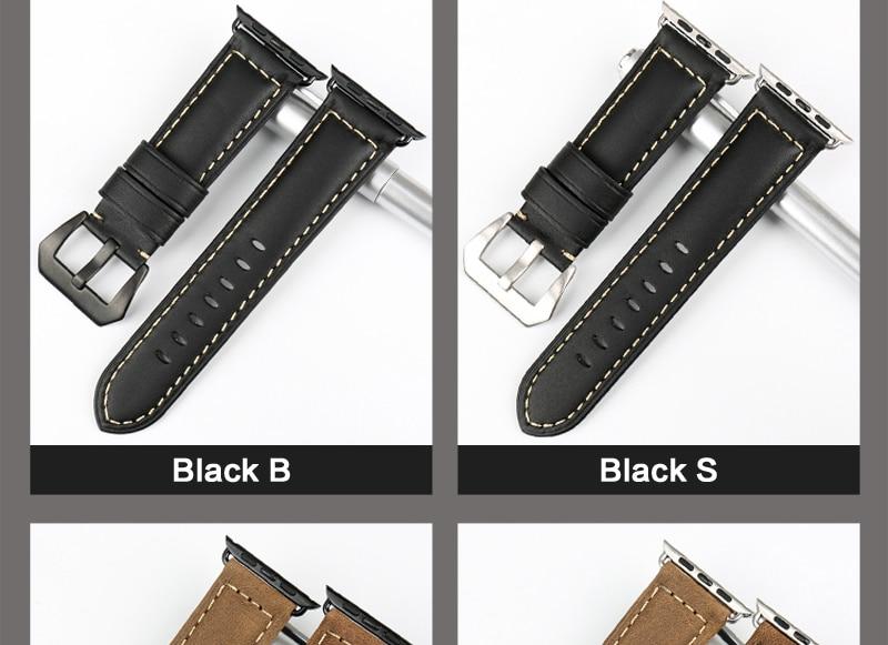 Bracelet Vintage Apple Watch Cuir