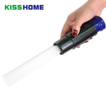 Blue Dust Cleaning Brush Universal Vacuum Attachment Dirt Remover Car Cleaner Head Portable Tools Vac Accessories For Daddy Mom