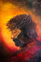 Top Skill Handmade Modern Abstract Jesus Christ Palette Knife Portrait Oil Painting on Canvas Wall Artwork Hang Pictures Decor