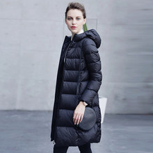 2016 new hot winter Thin Warm woman Down jacket Coats Parkas Outerwear Hooded long plus size Slim luxurious Brands Cold