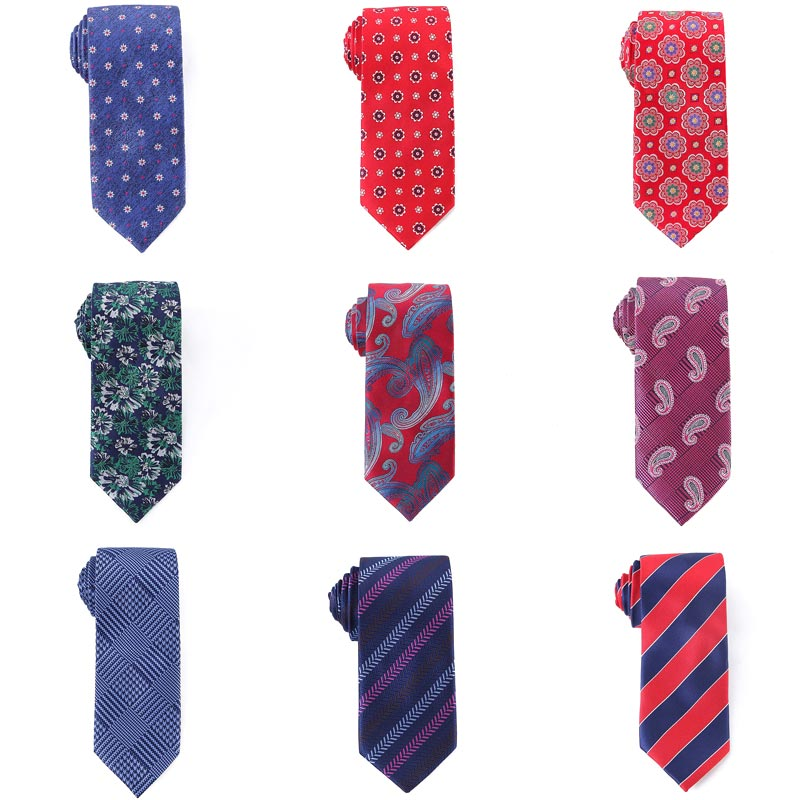 YISHLINE Fashion ties for Men stripes Floral paisley patterns Man ties wedding New Necktie 7.5CM Factory Directly Man Accessorie