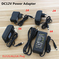 Factory Wholesale Price AC 100-240V to DC 12V Power Socket  AC / DC Adapter 12V 1A 2A 3A 4A LED Strip Power Supply Free Shipping