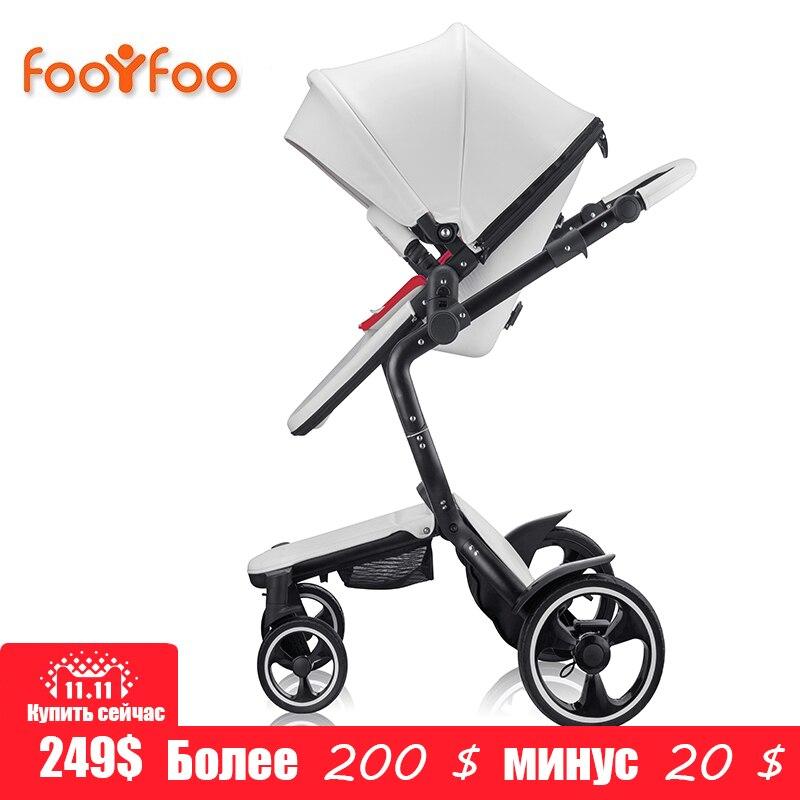 Foofoo lujo paisaje choque cochecitos puede sentarse cochecito reclinable cochecito de bebé de dos vías dual verano y w entre