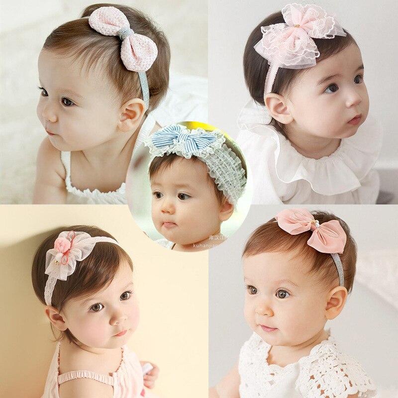 Kids Girl Baby Fashion Accessories Headwear Lace Flower Headband Hair Bow