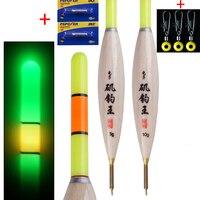 2 teile/los Angeln Float LED Elektrische Float Licht Angelgerät Leucht Bobber Nacht Elektronische Float Angeln Boje Angeln Werkzeuge