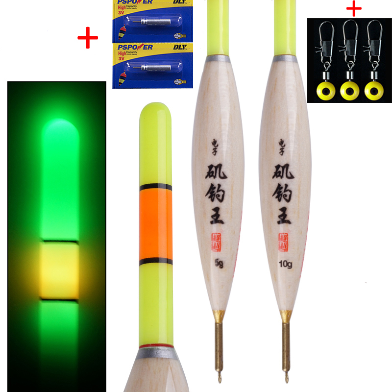 2pcs/lot Luminous Electric Floats Led Fishing Float Bobber Night Float For Fishing Light Float Fishing Buoy Fishing Tackle Tools