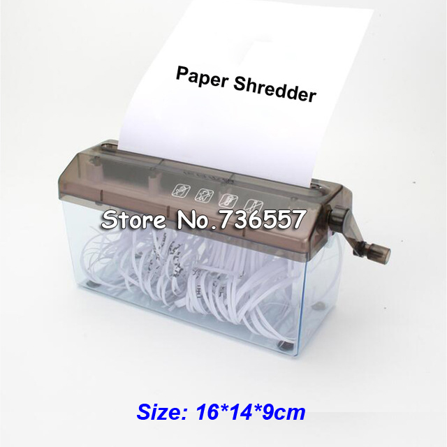 A6 Shredder Manual Hand Paper Shredders Document File Handmade Straight Cutting Machine Tool for School Office Home Use